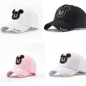 C O M I N G Mickey Jersey Knit Bling Trucker Hat